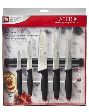 Parer, All Purpose, Carver, 17.5cm Santoku & Bread Knife