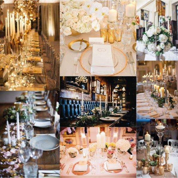 Wedding table inspiration montage